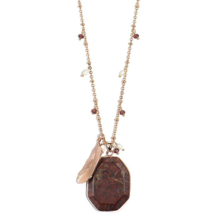 Jupiter Storm Red Jasper Necklace