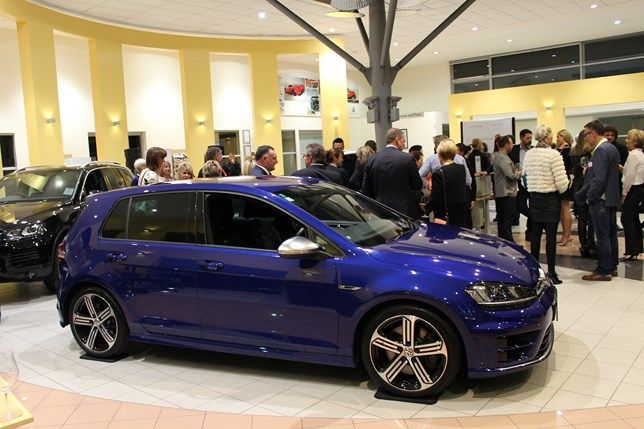 The new Volkswagen Golf R at Angela Stone's book launch in our Volkswagen showroom.   #fashion #nz #christchurch #cars #vw #golf #golfr
