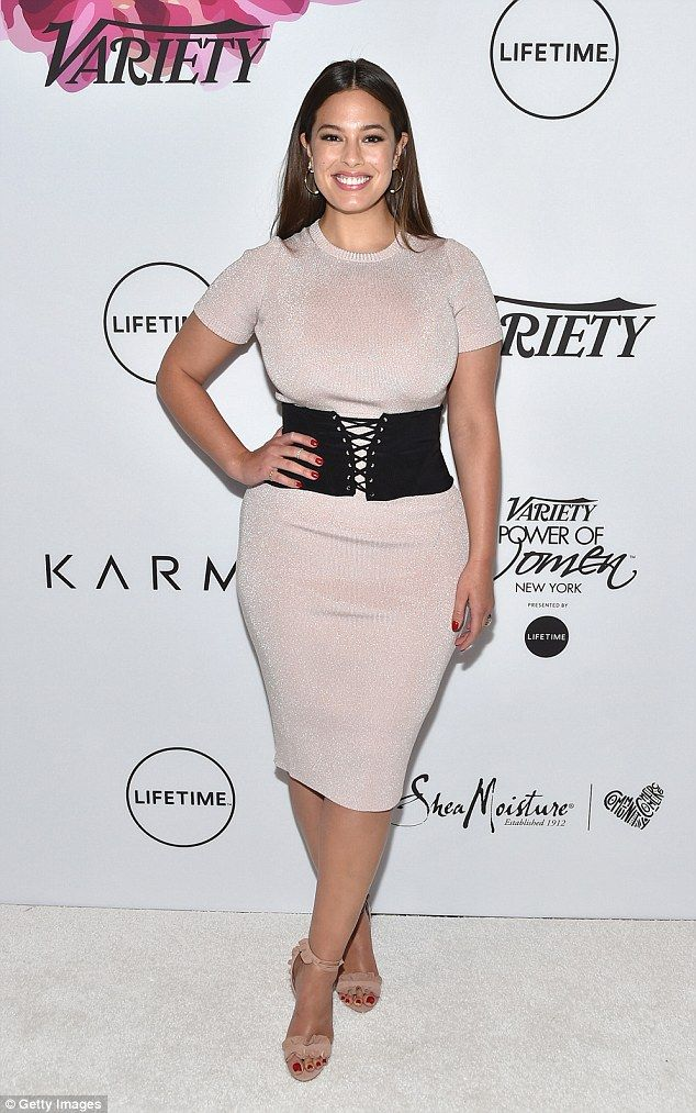 Sparkling:Ashley Graham made a stylish appearance at Variety's Power Of Women luncheon in in Cipriani Midtown, New York
