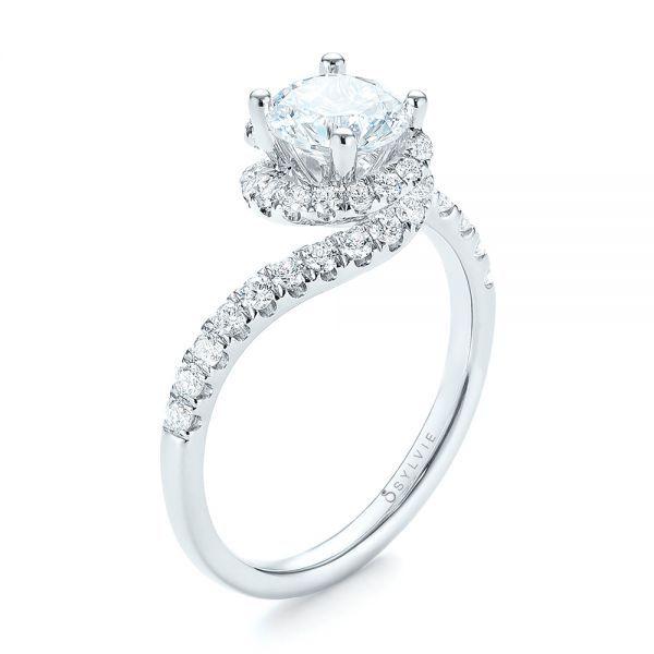 Diamond Swirl Engagement Ring   Joseph Jewelry   Bellevue   Seattle   Online   Sylvie