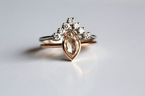 Hey, I found this really awesome Etsy listing at https://www.etsy.com/listing/229983626/modern-diamond-wedding-set-unique-ring
