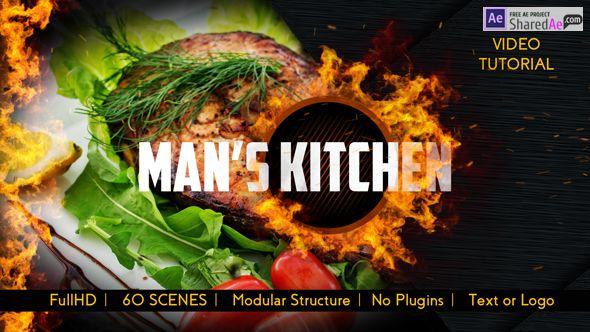 Videohive - Men's Kitchen Menu 19239450 - Free Download