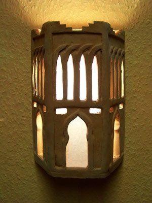 Mediterráneo marroquí marrón lámpara de pared occidental