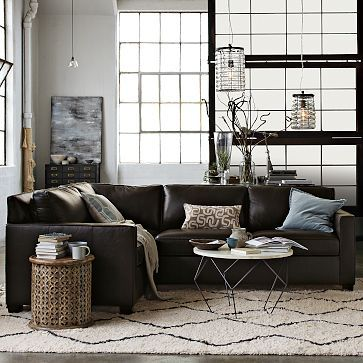 Henry 3-Piece Sectional - Leather #westelm
