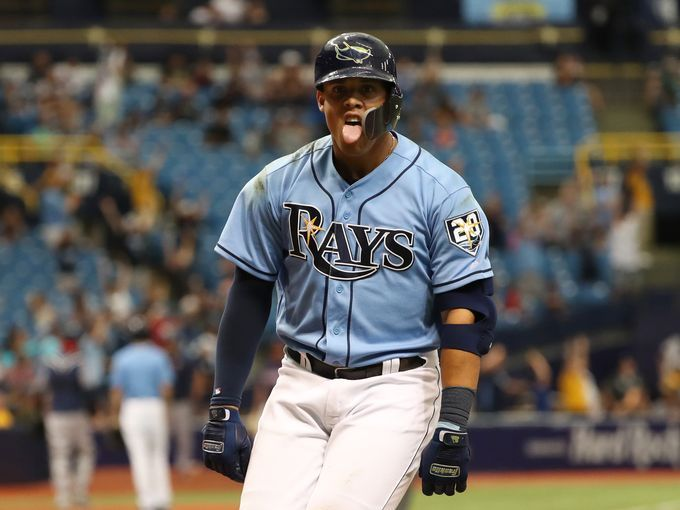 April 22 The Tampa Bay Rays Carlos Gomez Celebrates After Hitting A 2 Run Walk Off Home Run Against The Min Celebrities Usa Today Sports Celebrate Good Times