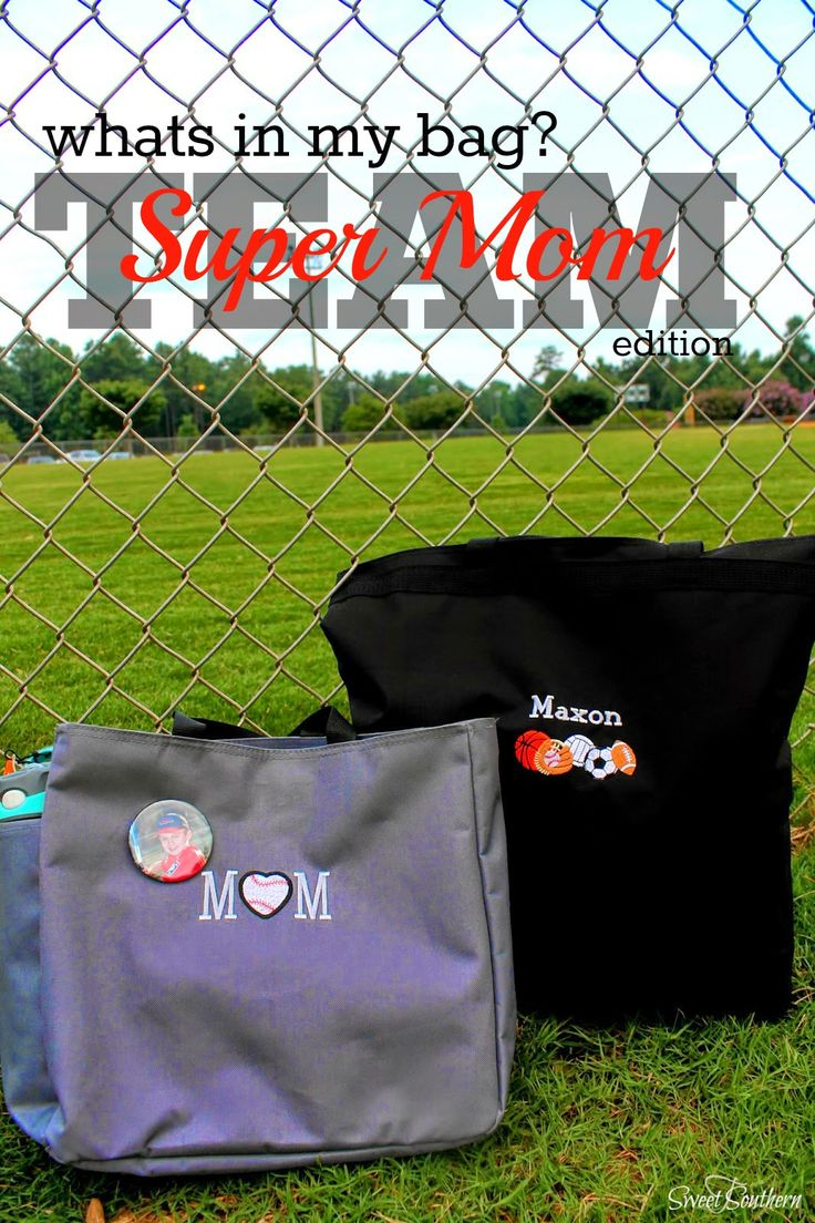 WHAT'S IN MY BAG - Super Team Mom Edition #organize #teammom #sportsbag #baseball