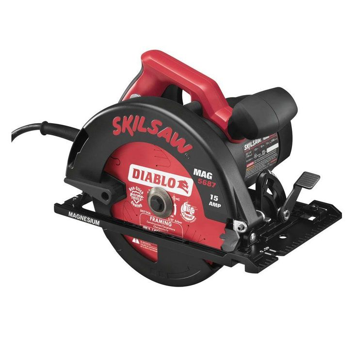 Skil 15 Amp Corded Electric 7-1/4 in. Magnesium Circular Saw with 7-1/4 in. Diablo Blade