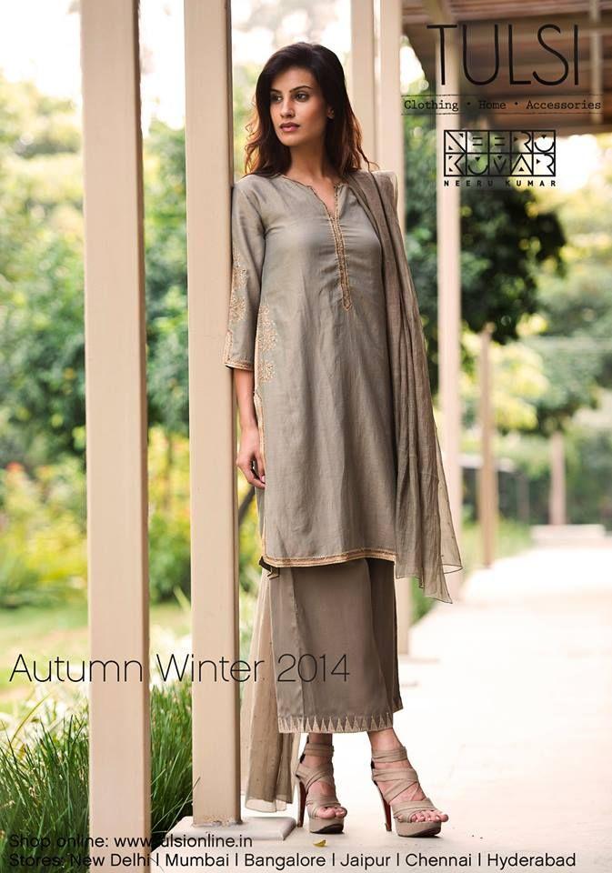 #autumnwinter #womensfashion #kurtaset #chanderi #embroidered #tulsionline
