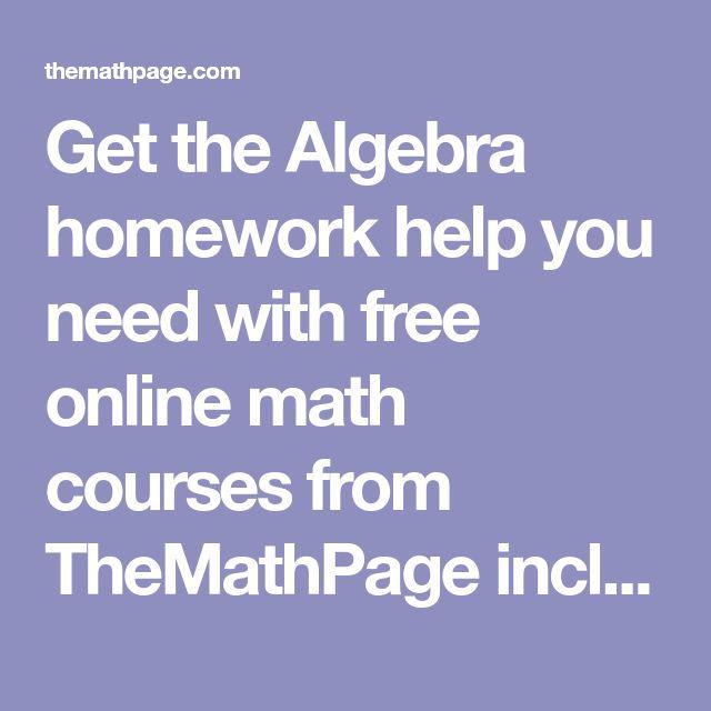 free online algebra help