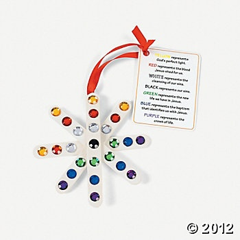 """""""Colors Of Faith"""" Craft Stick Snowflake Ornament With Card Craft Kit, Ornament Crafts, Craft Kits & Projects, Craft & Hobby Supplies - Oriental Trading"""