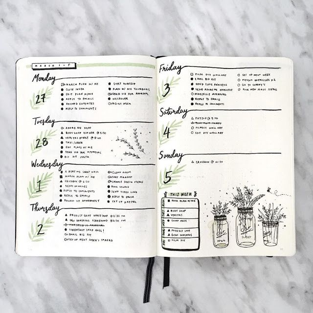 Bullet Journal Collection: 18 Super Pretty Weeklies