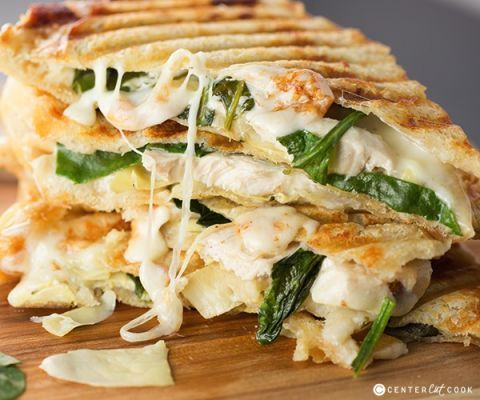 Stuff your favorite dip inside a panini and head off to sandwich bliss. Get the recipe from Center Cut Cook.
