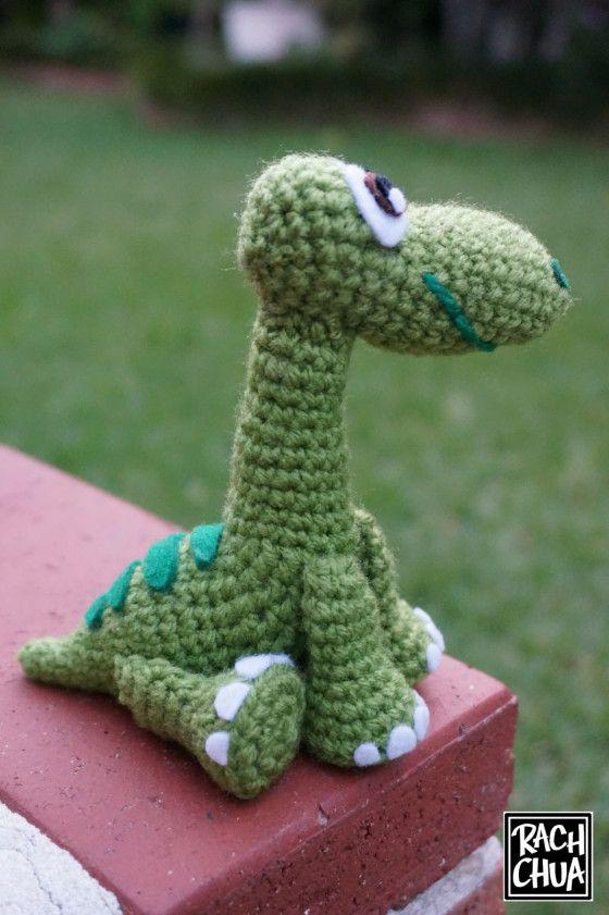 Амигуруми динозавр Арло крючком: схема вязания и пошаговое описание вязаной игрушки.