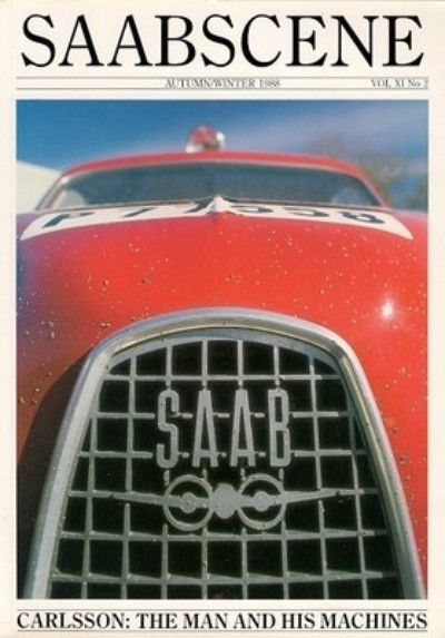 Saab Scene Magazine Vol 11 No 2 Autumn Winter 1988.