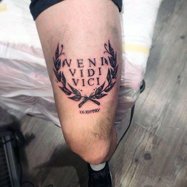 Veni Vidi Vici Tattoo Ideas: Best 25+ Thigh Tattoo Men Ideas On Pinterest