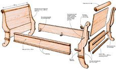 Preview - Building a Sleigh Bed - Fine Woodworking Article