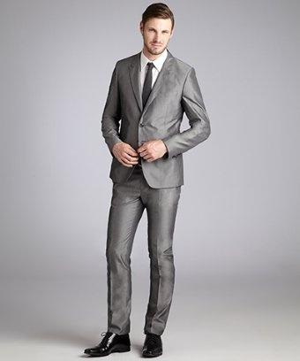 Paul Smith light grey pinstripe suit with slim pants