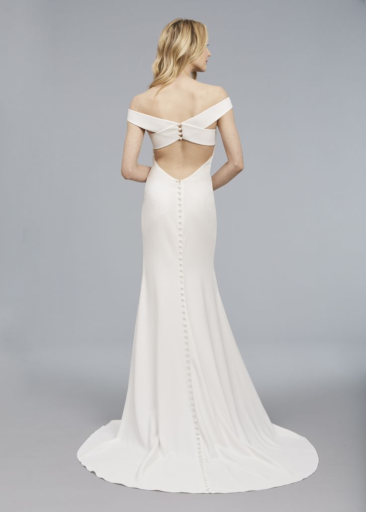 107 best unique wedding dresses images on pinterest for Cross back wedding dress
