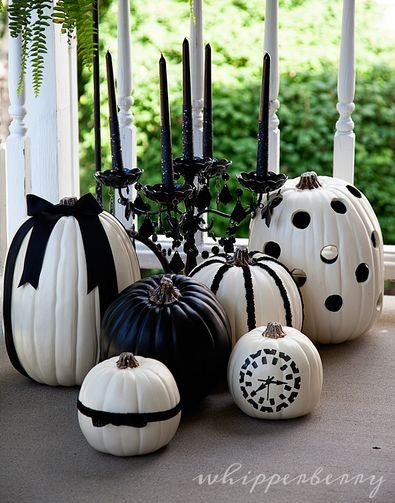 ♡www.SocietyOfWomenWhoLoveShoes.org Black and White Halloween Pumpkins by @Heather Creswell Creswell Creswell Creswell // Whipperberry #MPumpkins