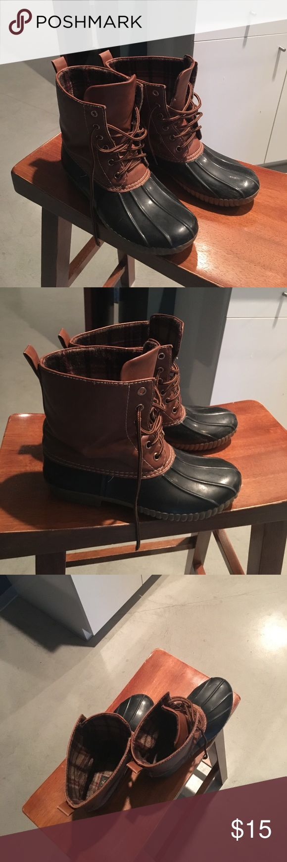 Duck Boots Women's duck boots. Worn a lot but in good condition on the outside. The inside fabric is worn a little. See picture above. Size 8. **These are not LL Bean Brand they are Adriana Branb. ** L.L. Bean Shoes