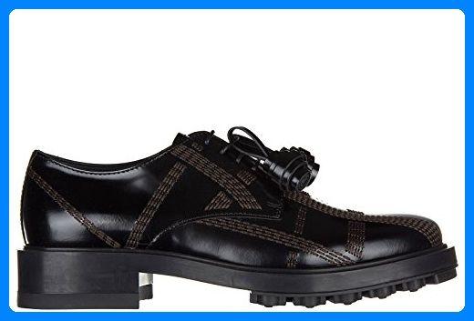 Tod's Damenschuhe Leder Damen Business Schuhe Schnürschuhe derby allacciata impunture Schwarz EU 38.5 XXW0XM0R920SSPB999 - Schnürhalbschuhe für frauen (*Partner-Link)