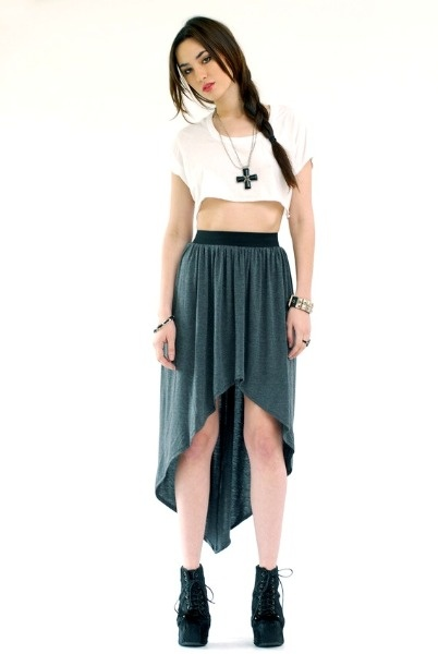 I have this skirt and it is my favorite basic black go-to skirt. Now I might need the grey one...