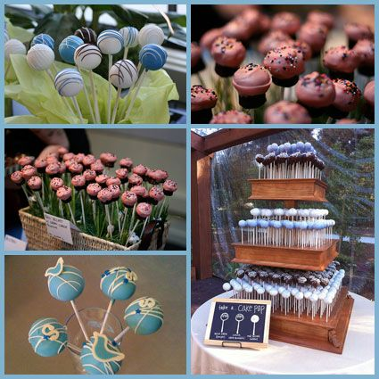 Different ways to display the cake pops. I'm leaning towards the basket with grass.