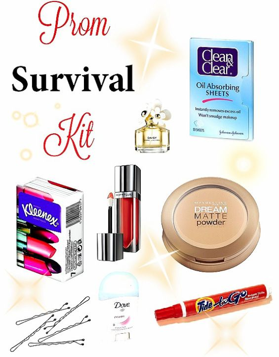 Prom Survival Kit! Ahhh tomorrow is my first prom! :)