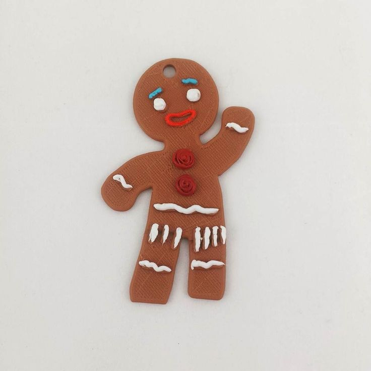 Happy Flexi-Holidays!  Gingerbread man made with #FilaFlex and decorate with #3Doodler  #elasticfilament #3dprinting #holidays #christmas #gingerbreadman #shrek #3D #maker # by recreus3d