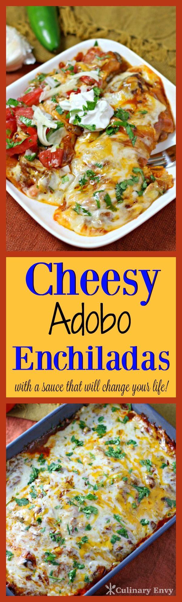 Cheesy Adobo Enchiladas