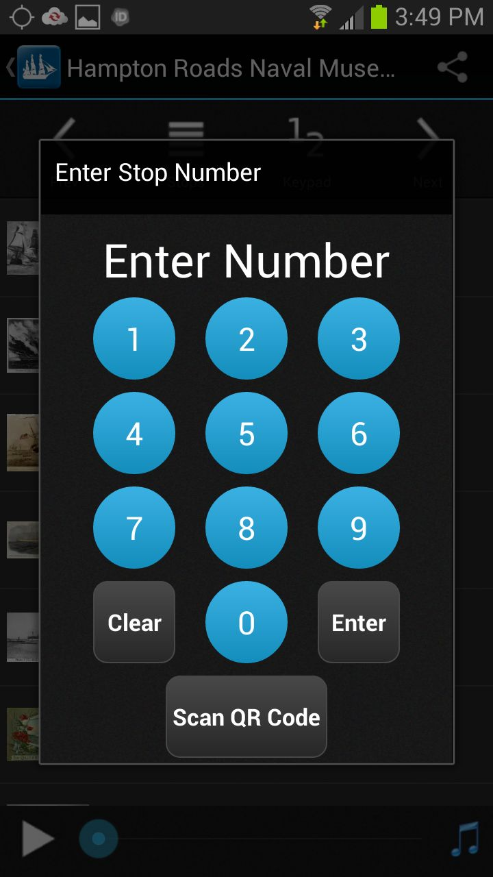 Keypad function for iCurate / Museums