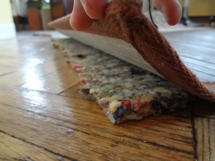 Carpet underlayment to give rugs a plush, expensive feel