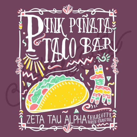 Sorority Social Zeta Tau Alpha Pinata Taco Bar Fiesta South By Sea