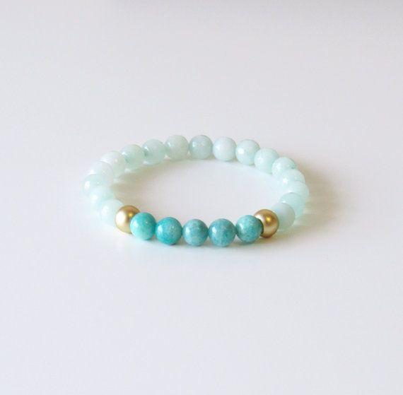 Amazonite Wrist Mala Yoga Bracelet Meditation by BBTresors on Etsy