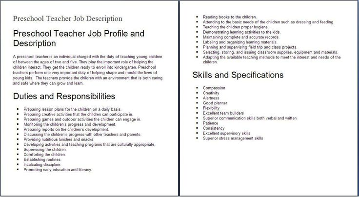job descriptions