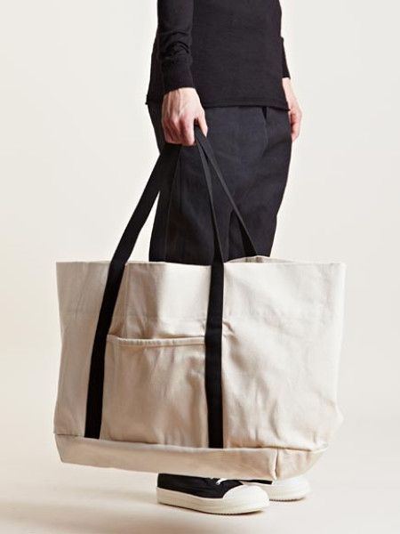 Drkshdw By Rick Owens Mens Oversized Canvas Bag in White for Men (Neutral) | Lyst - all bags online, leather bags for women on sale, black side bag womens *sponsored https://www.pinterest.com/bags_bag/ https://www.pinterest.com/explore/bags/ https://www.pinterest.com/bags_bag/luxury-bags/ http://shop.diesel.com/mens/bags/