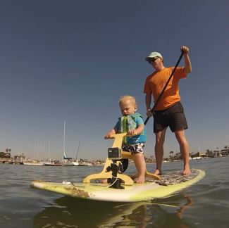 A Sturdy And Stable Seat For Kids To Ride While You Paddle