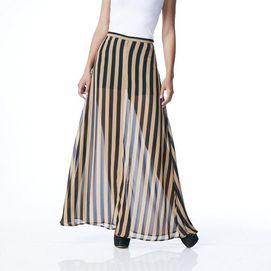 JEALOUS TOMATO™ Stripe Maxi Skirt - Sears