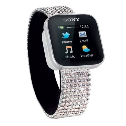 Sony SmartWatch Swarovski Mobile watch (OLED-Display with Multitouch, Bluetooth, USB, Android OS)