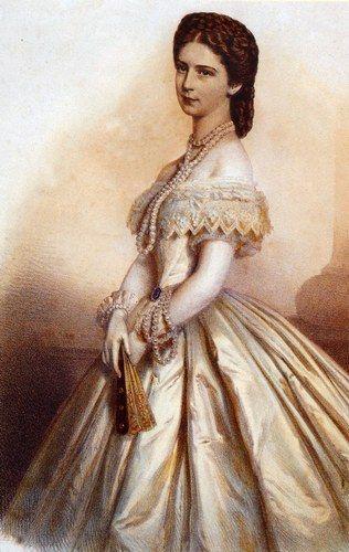 Elisabeth d'Autriche robe de Bal 1860