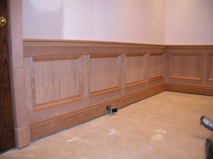 Wood Paneling Chair Rail Part - 48: Wainscoting Panels | Wainscott And Chair Rail Complete, Ready For Stain.  Wainscoting PanelsWainscoting IdeasWood Panel ...