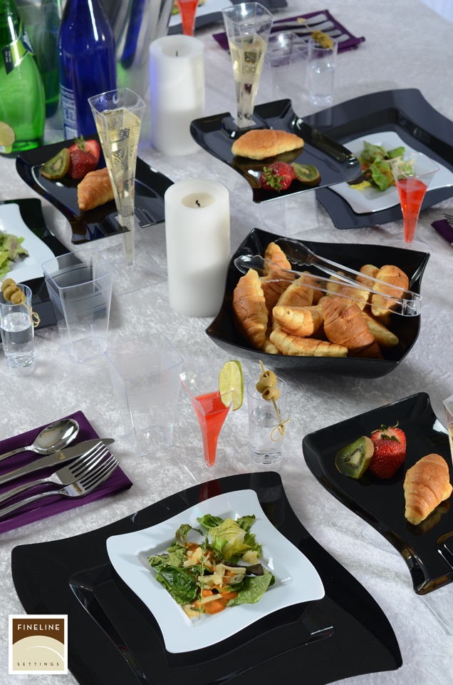 Every occasion calls for a celebration - do it with upscale disposable dinnerware by Fineline.   Set your party table with fine quality plastic tableware and disposable party goods.  http://www.finelinesettings.com/content-41-upscale-disposable-dinnerware