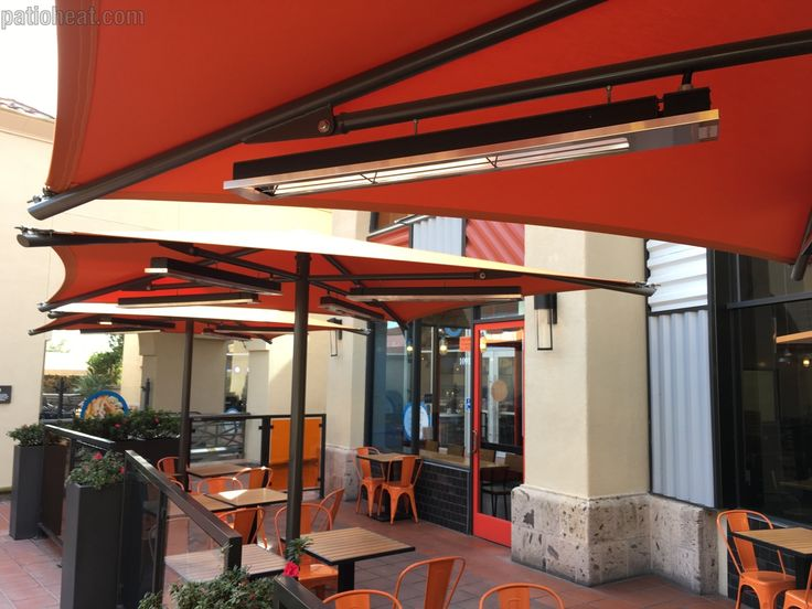 Love The Use Of The Infratech Slim Line Electric Patio Heaters  The  Umbrellas Have A