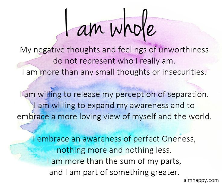An #Affirmation for #Healing: I Am Whole                                                                                                                                                     More