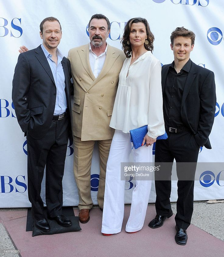 Actors Donnie Wahlberg, Tom Selleck, Bridget Moynahan and Will Estes arrive at the 'Blue Bloods' Special Screening And Panel Discussion at Leonard H. Goldenson Theatre on June 5, 2012 in North Hollywood, California.