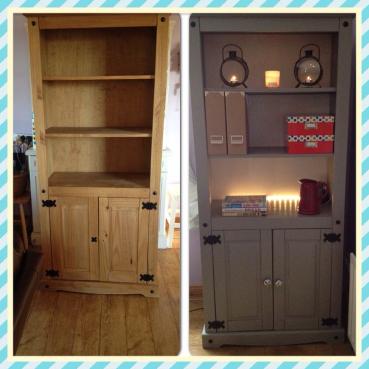 Mexican Pine display unit painted Autentico Foggy Venice and varnished