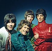 THE HERD UK pop group in 1967 from left: Andy Bown, Gary Taylor, Peter Frampton, Henry Spinetti - Stock Photo