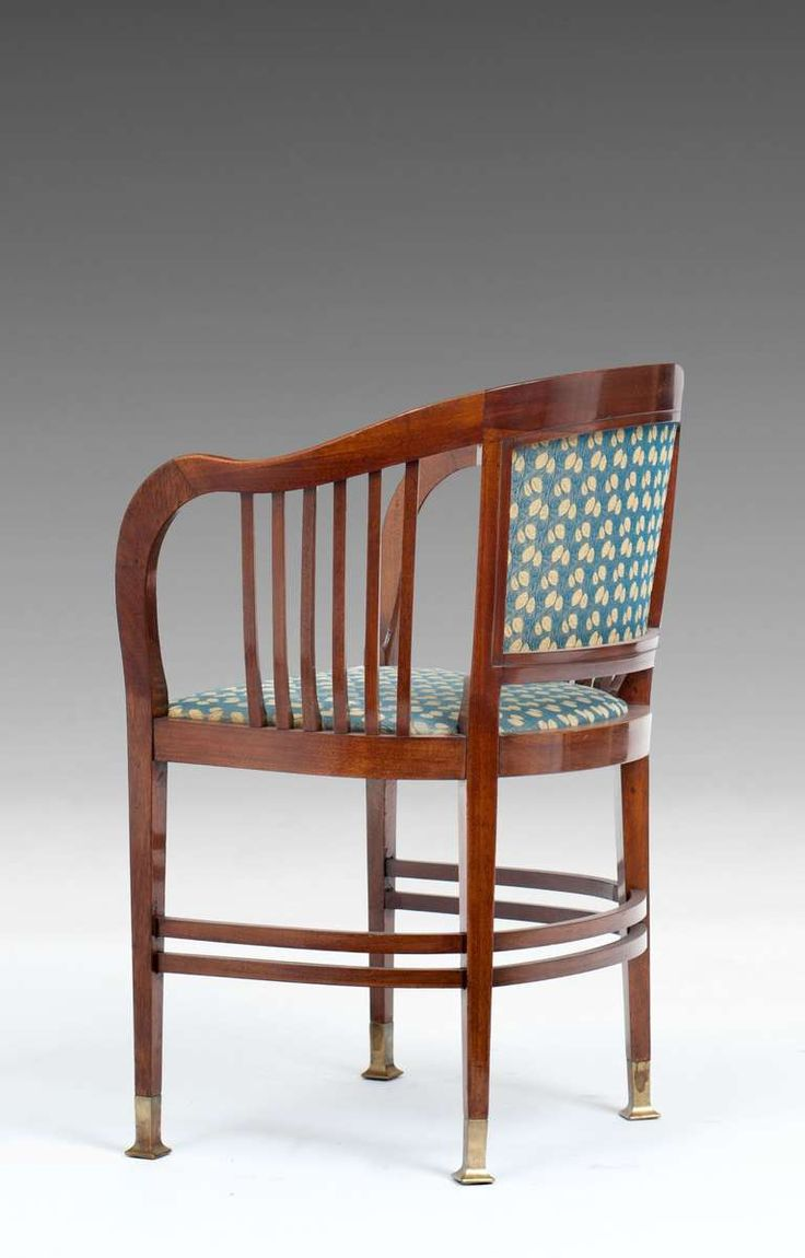 Rare original beech stained chair by eugene gaillard circa 1900 at - Joseph Maria Olbrich Seating Group Bench 3 Armchairs Table Vienna Secession