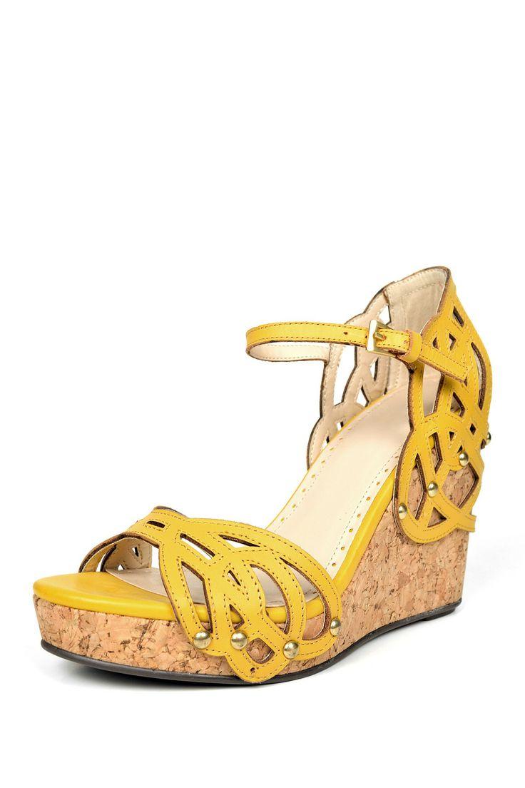 Adrienne Vittadini yellow wedges.  I have them, I love them. comfortable.