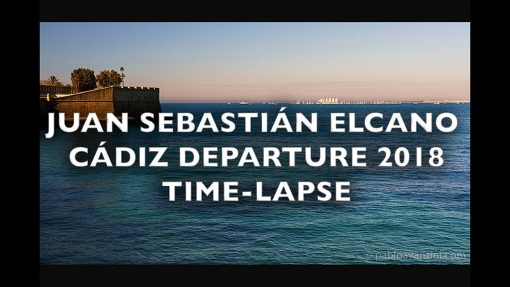 Juan Sebastian Elcano Port of Cádiz Departure Time-Lapse 4K Royalty Free...
